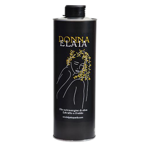 Bottiglia olio extra vergine di oliva della Valle del Belìce Donna Elaia - Orodelgattopardo